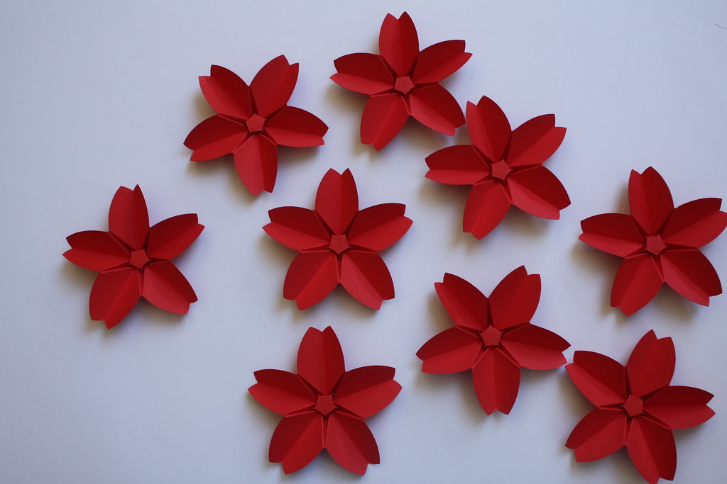 Origami Creation Didier Boursin Fleurs De Cerisier Flickr