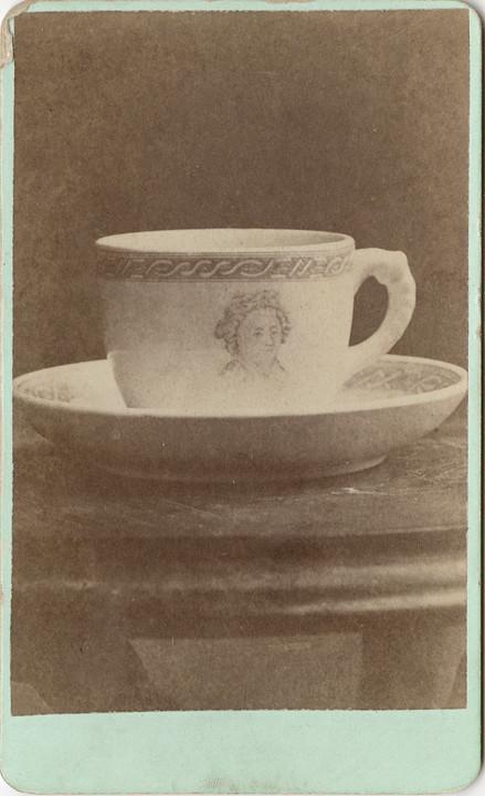 Carte De Visite Of A Cup And Saucer