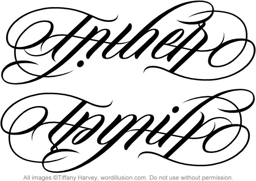 father family ambigram a custom ambigram of the word flickr. Black Bedroom Furniture Sets. Home Design Ideas