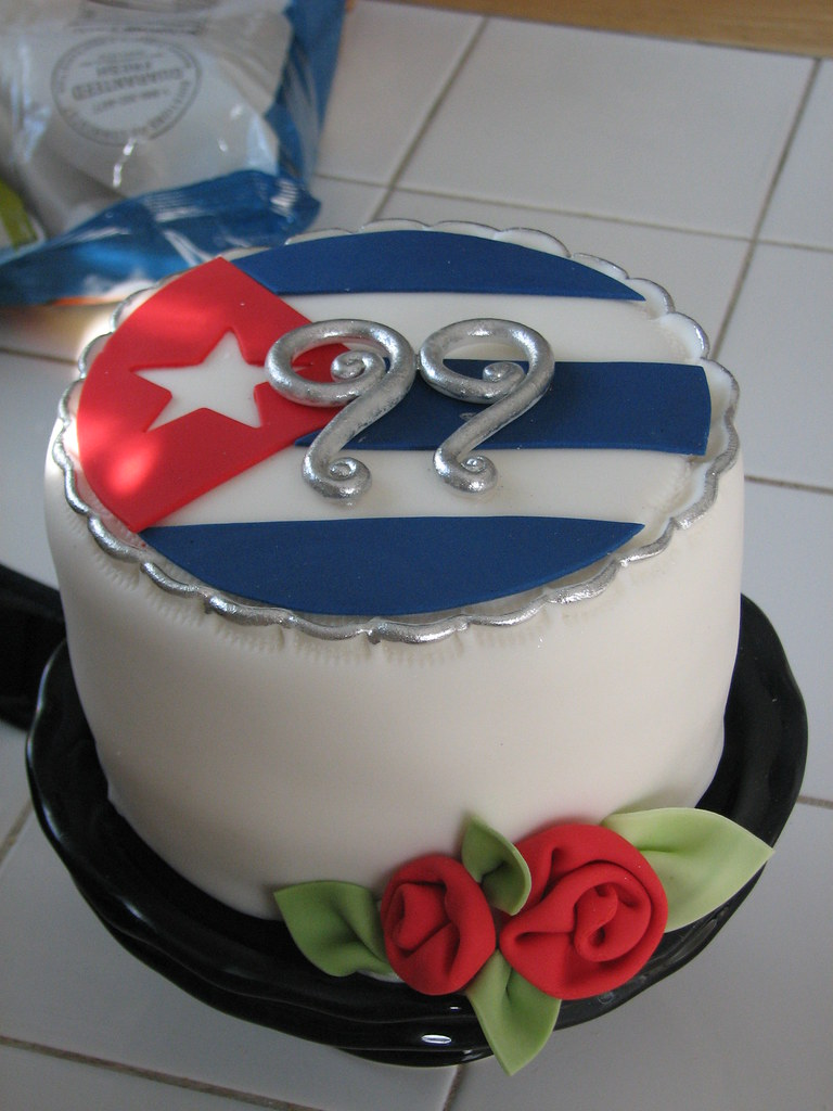 Cuban Flag Cake Marta Ebra Flickr