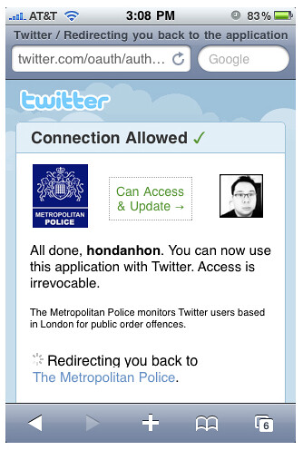 Metropolitan Police and Twitter Oauth | by danhon