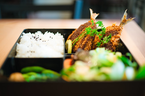 365.353 Aji Fry Bento (Fried Horse Mackerel Lunch Box)
