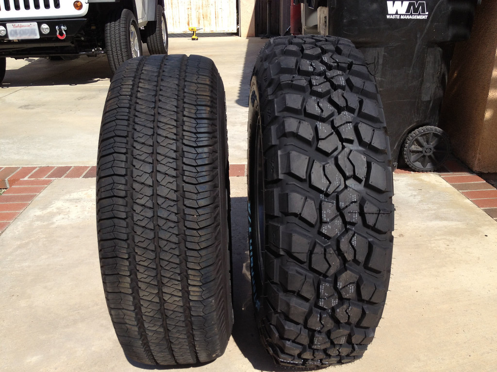 goodyear sra bfg km2 comparison of stock jeep goodyear sra flickr