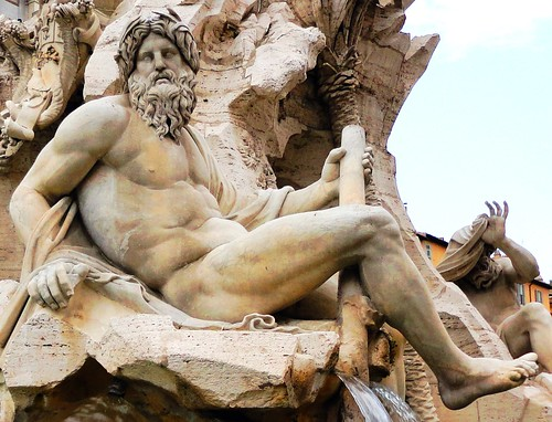 Rome, detail (Piazza Navona fountain) | by kjimbo (Wishes for Peace)