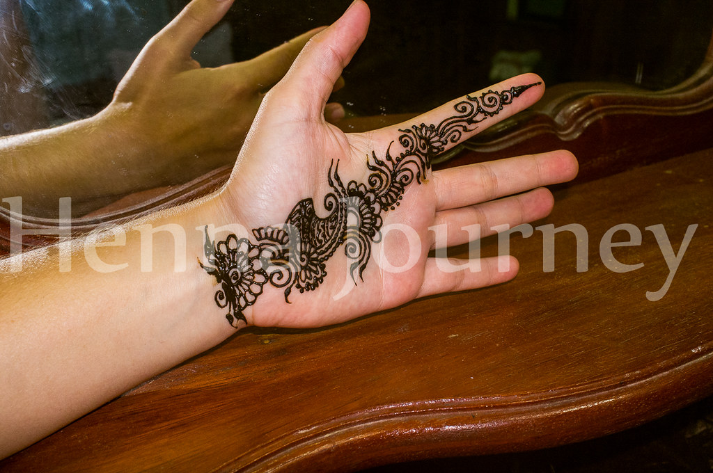 Floral Henna Palm Strap Simple Hand Mehndi Design Henna Journey