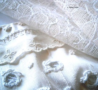 lace and silk | by contemporary embroidery