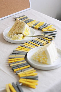 Sliced Lemon Layer Cake for Mother's Day Craft Photo Shoot | by Xiaolu // 6 Bittersweets