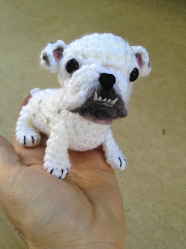 Bulldog amigurumi | by CraftyisCool1