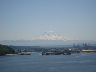 Rainier Over Commencement Bay | by papahazama