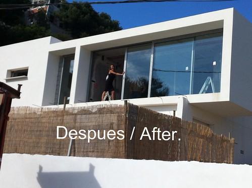 Instalaci n de vidrios climalit de grandes dimensiones co for Cristaleria benissa