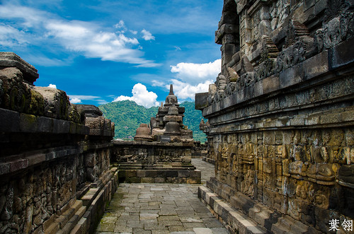 Terrace at Borobudur | by yemaria