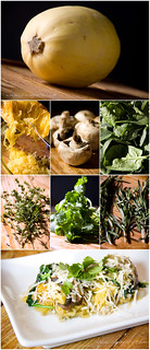 Spinach and Mushroom Herbed Spaghetti Squash Tych | by Palamedes Photography