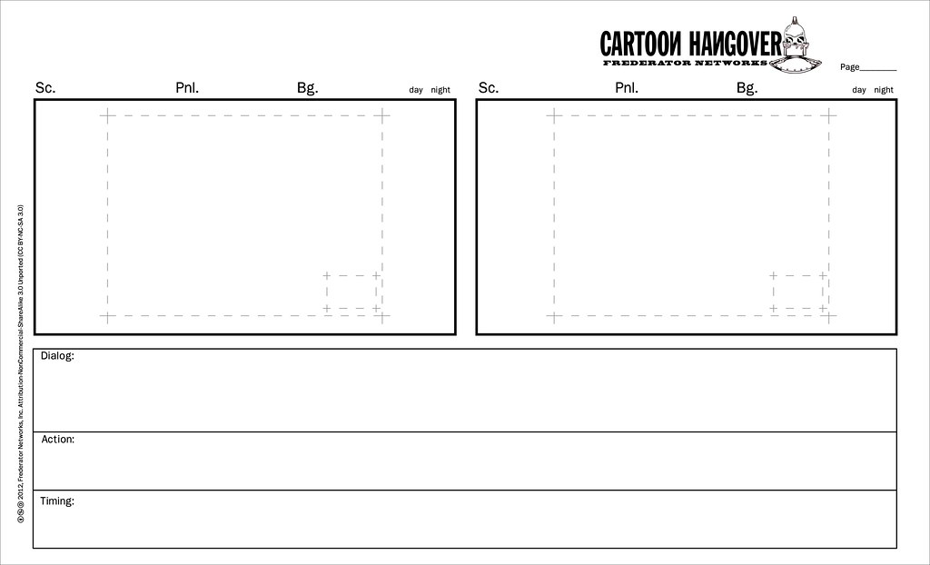 cartoon hangover storyboard template fred seibert flickr