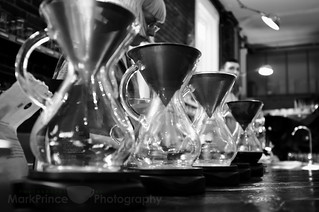 Line up the Chemexes | by CoffeeGeek