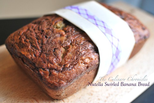 Nutella Swirled Banana Bread | by The Culinary Chronicles