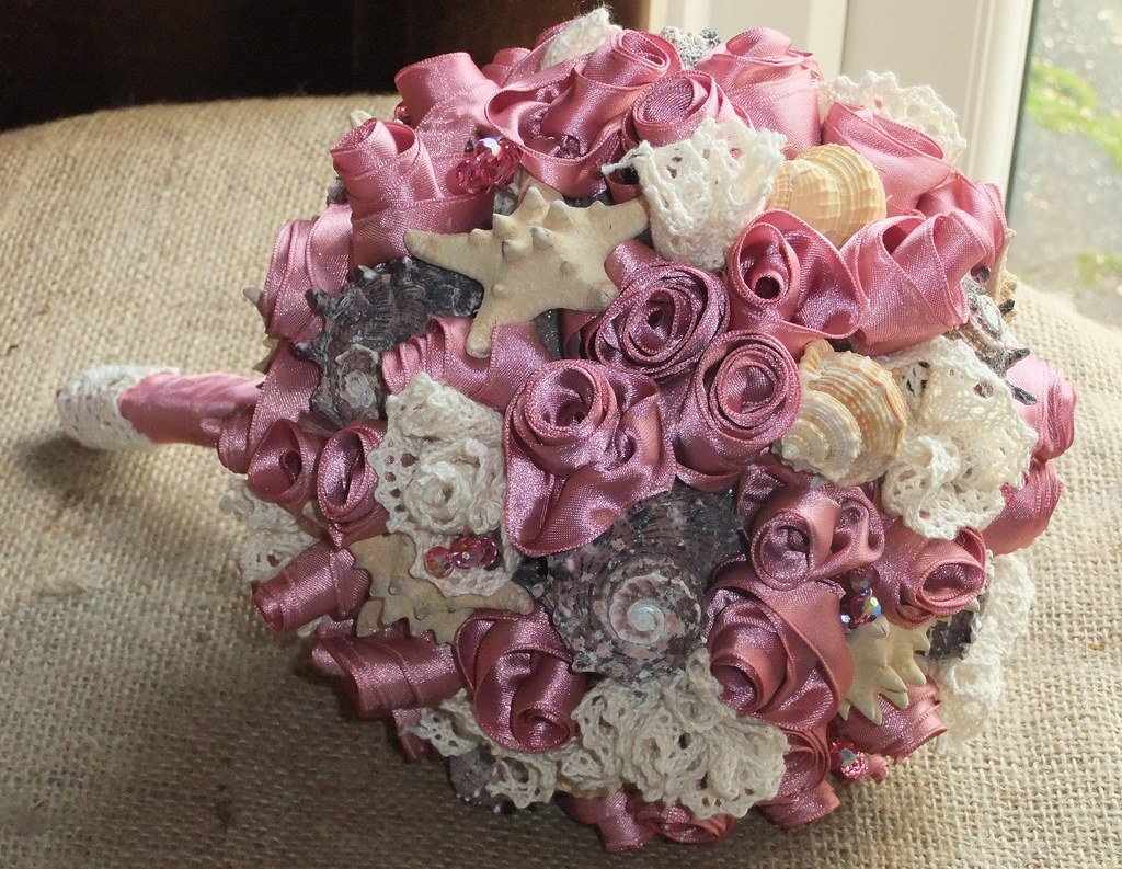Dusky Pink Seashell Bouquet Made With Handmade Dusky Pink Flickr