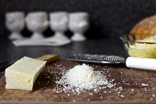 romano and gruyere, finely grated | by smitten kitchen