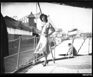 Miss Hera Roberts posing on the deck of HNLMS JAVA | by Australian National Maritime Museum on The Commons