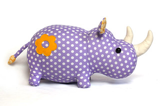 rhino toy pattern | by DIY Fluffies