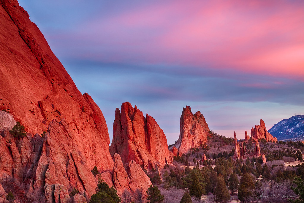 ... Garden Of The Gods Sunset View | By Striking Photography By Bo Insogna
