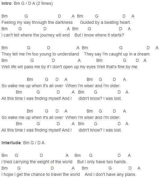 Avicii - Wake Me Up Chords | Avicii - Wake Me Up Chords chor… | Flickr