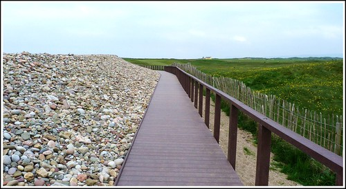 Extension Walk Boards : Coastal path extension of the board walk towards pink
