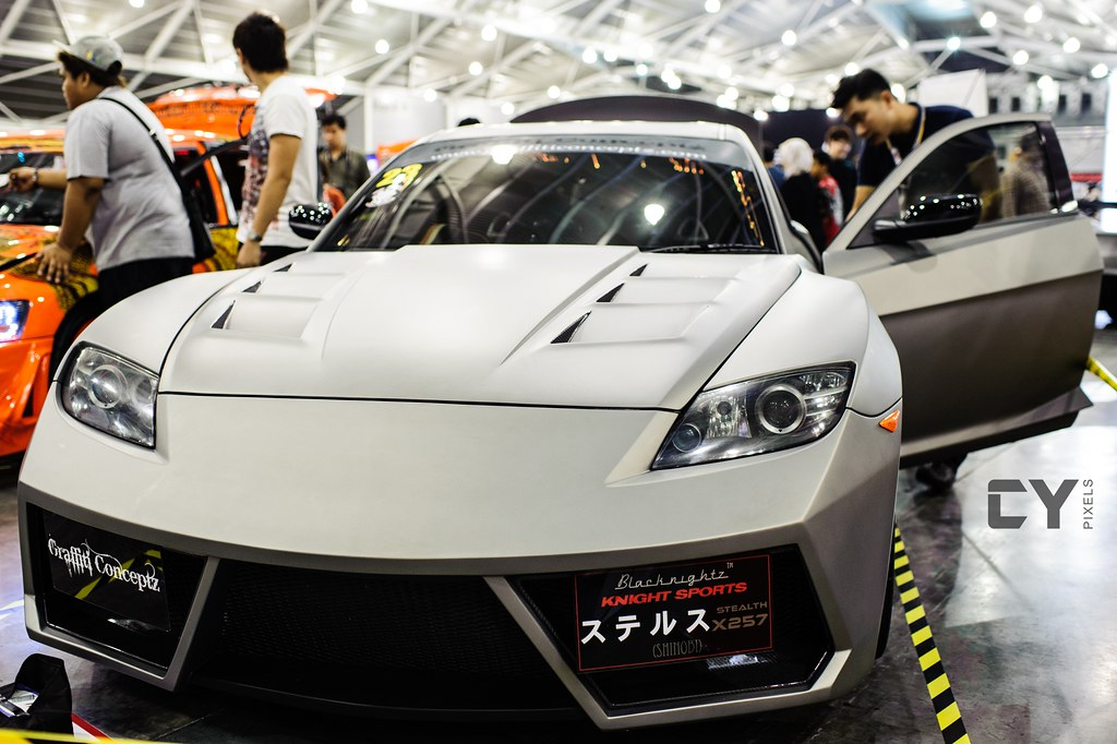 Mazda RX-8 with Lamborghini Reventon-style skirts, Super I… | Flickr
