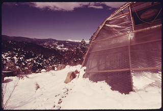 Solar greenhouse owned and built by Peter Howell, located at about the 8,500 foot level in the front range..., 05/1975. | by The U.S. National Archives