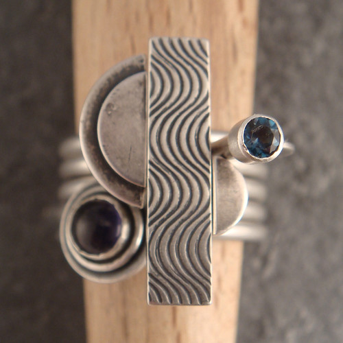 wave patterned stacking rings | by downtothewiredesigns