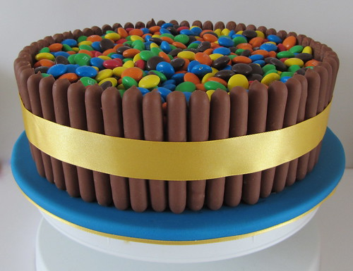 Cake Surrounded By Chocolate Fingers