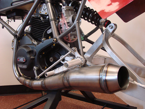 loudbike ducati tt1 mild steel factory replica exhaust. Black Bedroom Furniture Sets. Home Design Ideas