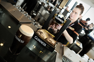 Bartender and pint of Guinness at the Gravity Bar inside the Guinness Storehouse - Dublin - Ireland | by PascalBo