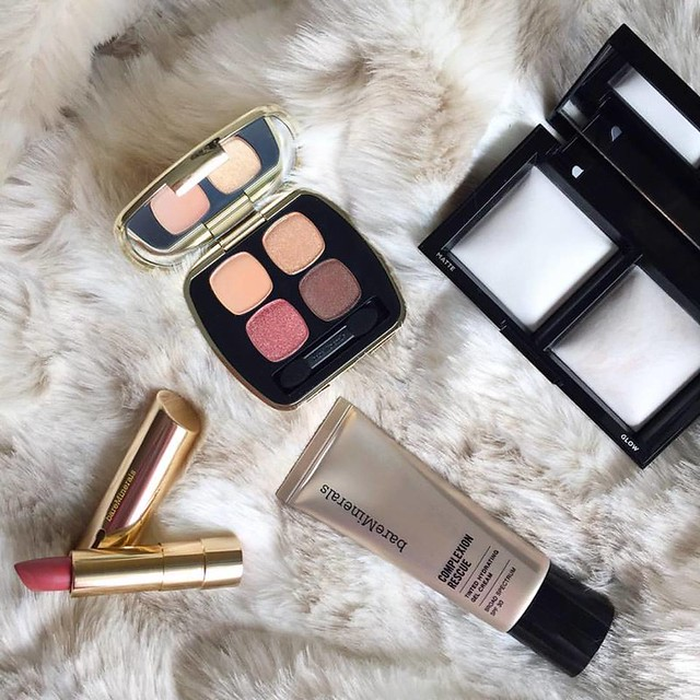 bareMinerals Invisible Light Translucent Powder Duo   Complexion Rescue   Lovescape Collection Lipstick in Chase Your Dreams   Lovescape Eyeshadow Palette in The Instant Attraction
