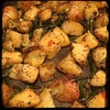 #Roasted # Potatoes & #Scapes  #Homemade #CucinaDelloZio - remove from oven