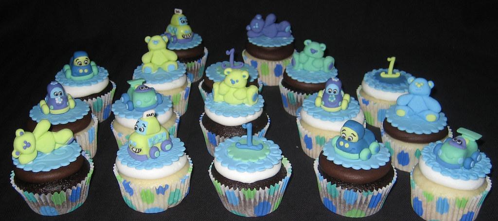 car 1st birthday cupcakes closeup 1 cupcakes and cake mode flickr