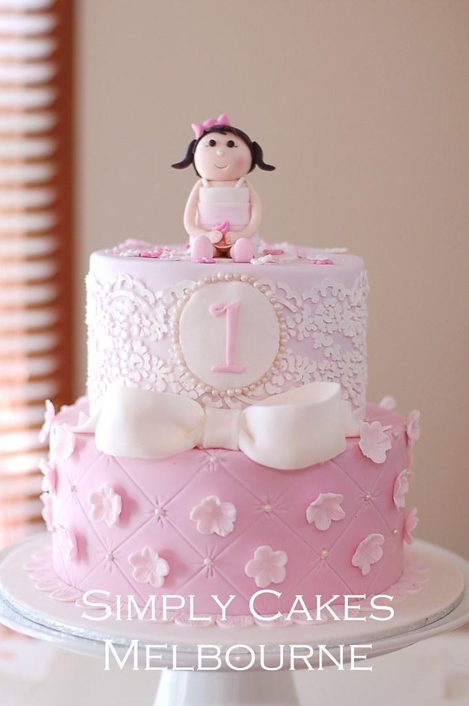 1st Birthday Princess Cake Evi Andrianti Flickr