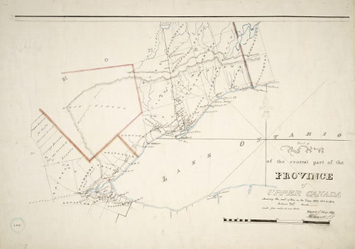 Part of the central part of the province of Upper Canada shewing the seat of war in the Years 1812, 1813 & 1814 (912-7135c34) | by Toronto Public Library Special Collections