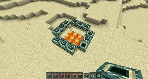 how to make an end portal in minecraft creative