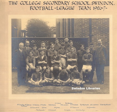 1926: The College Secondary School, Swindon - football league team 1926-7 | by Local Studies, Swindon Central Library
