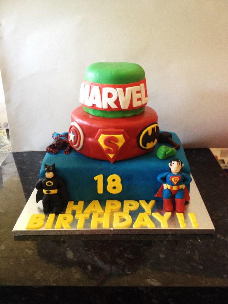 Marvel Birthday Cake Marvel Themed Birthday Cake For My Co Flickr