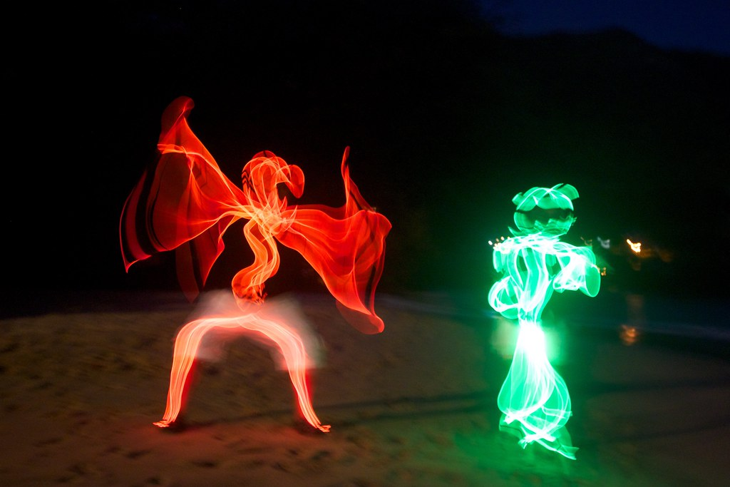 Glow Wire People | My good friend Russell made 30 glow wire … | Flickr