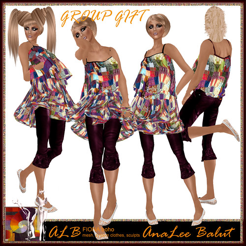 GROUP GIFT - FREE - ALB FIONA boho outfit - MESH - system clothes - sculpts | by AnaLee Balut