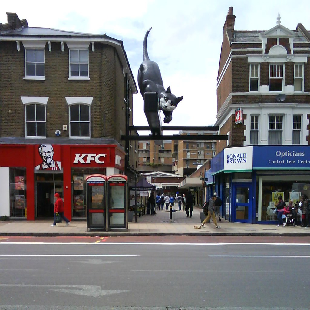 Image result for catford cat statue