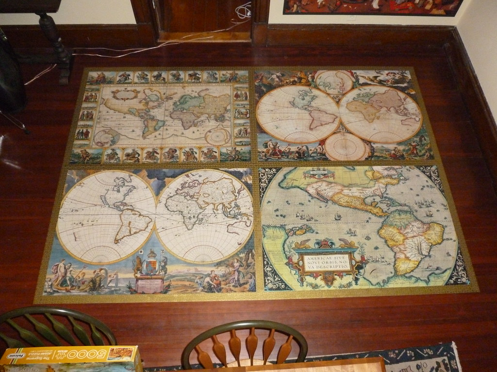 Ravensburger World Map Jigsaw Puzzle. by Billsville Mike 18000 piece puzzle  4 World Maps Ravensburger Germany Flickr