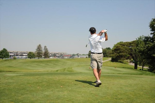 Golfer at the brickyard crossing indianapolis motor for Indianapolis motor speedway com