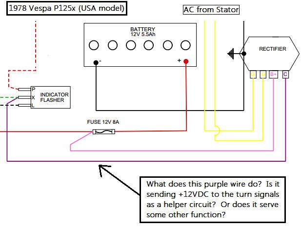 Vespa P125x Wiring Diagram