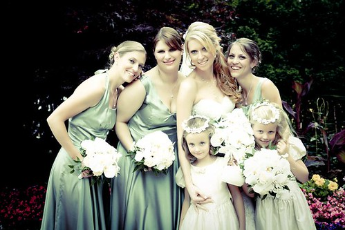 bridal-party-hair-bride-bridesmaids-flowergirls | by vanmobilehair