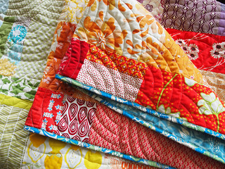 Claire's rainbow log cabin quilt | by Spotted Stone Studio {Krista}