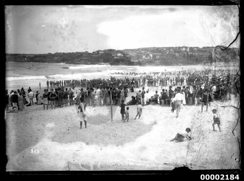 Swimmers at Bondi Beach | by Australian National Maritime Museum on The Commons