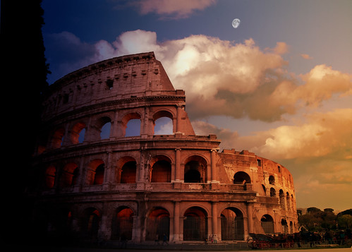 Colosseum sunset composite | by sneakerdog